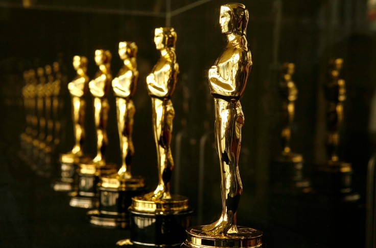 Actual Oscar statuettes to be presented during the 79th Annual Academy Awards sit in a display case in Hollywood