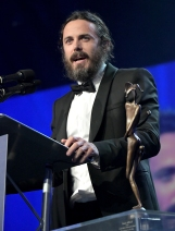 PALM SPRINGS, CA - JANUARY 02: Actor Casey Affleck speaks onstage at the 28th Annual Palm Springs International Film Festival Film Awards Gala at the Palm Springs Convention Center on January 2, 2017 in Palm Springs, California. (Photo by Charley Gallay/Getty Images for Palm Springs International Film Festival)