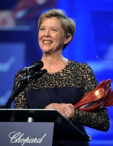 PALM SPRINGS, CA - JANUARY 02: Actress Annette Bening speaks onstage at the 28th Annual Palm Springs International Film Festival Film Awards Gala at the Palm Springs Convention Center on January 2, 2017 in Palm Springs, California. (Photo by Charley Gallay/Getty Images for Palm Springs International Film Festival)