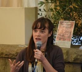 MODIFIED Director, Aube Giroux, addresses the audience during the Santa Barbara International Film Festival's Documentary Filmmkaing Seminar, February 6th, 2018, in the Santa Ynez Valley Lounge. (Photo Credit: Larry Gleeson/HollywoodGlee)