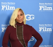Mary J. Blige on the red carpet at the historic Arlington Theatre February 3, 2018. Blige was being honored as a Santa Barbara International Film Festival Virtuosos for her work on the film, Mudbound. (Photo by Larry Gleeson/HollywoodGlee)