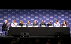 SANTA BARBARA, CA - FEBRUARY 03: Moderator Glenn Whipp, producers Graham Broadbent, Lisa Bruce, J. Miles Dale, Daniel Lupi, Sean McKittrick, Evelyn ONeill, Peter Spears and Emma Thomas speak at The Producers Panel during The 33rd Santa Barbara International Film Festival at Lobero Theatre on February 3, 2018 in Santa Barbara, California. (Photo by Rebecca Sapp/Getty Images for SBIFF)