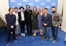 SANTA BARBARA, CA - FEBRUARY 03: Writerss Edgar Wright, Michael H. Weber, Liz Hannah, SBIFF Executive Director Roger Durling, Emily V. Gordon, Vanessa Taylor, Virgil Williams and Adrian Molina at The Writers Panel during The 33rd Santa Barbara International Film Festival at Lobero Theatre on February 3, 2018 in Santa Barbara, California. (Photo by Matt Winkelmeyer/Getty Images for SBIFF)